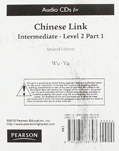 CHINESE LINK:INTERM...LEV.2,PT N/A 9780205783793 Front Cover