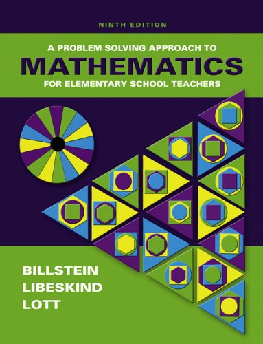 Problem Solving Approach to Mathematics for Elementary School Teachers  9th 2007 (Revised) edition cover