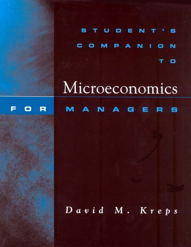 Microeconomics for Managers   2004 (Student Manual, Study Guide, etc.) 9780393976793 Front Cover
