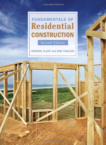 Fundamentals of Residential Construction  2nd 2006 (Revised) 9780471681793 Front Cover