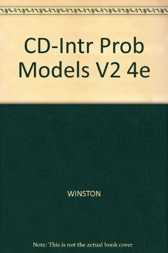 Introduction to Probability Models  4th 2004 9780534405793 Front Cover
