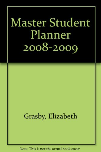 Master Student Planner 2008-2009  12th 2009 9780618949793 Front Cover