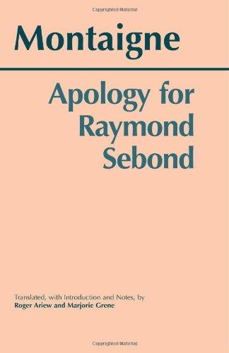 Apology for Raymond Sebond   2003 edition cover