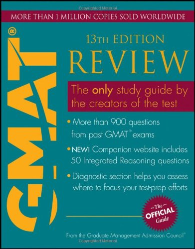 Official Guide for GMAT Review  13th 2012 edition cover