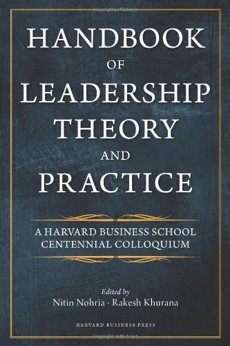 Handbook of Leadership Theory and Practice   2010 edition cover