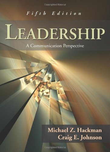 Leadership A Communication Perspective 5th 2008 edition cover