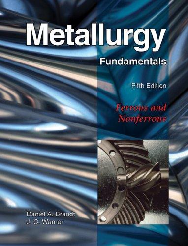 Metallurgy Fundamentals  5th 2009 edition cover