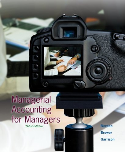 Loose Leaf Managerial Accounting for Managers with Connect Plus  3rd 2014 edition cover