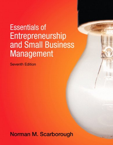 Essentials of Entrepreneurship and Small Business Management  7th 2014 edition cover