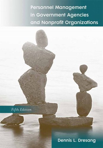 Personnel Management in Government Agencies and Nonprofit Organizations  5th 2008 (Revised) edition cover