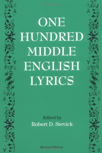 One Hundred Middle English Lyrics   1994 (Revised) edition cover