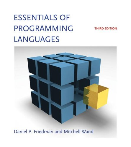 Essentials of Programming Languages  3rd 2008 edition cover