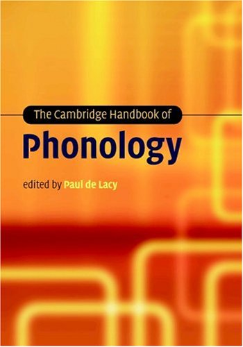 Cambridge Handbook of Phonology   2006 9780521848794 Front Cover
