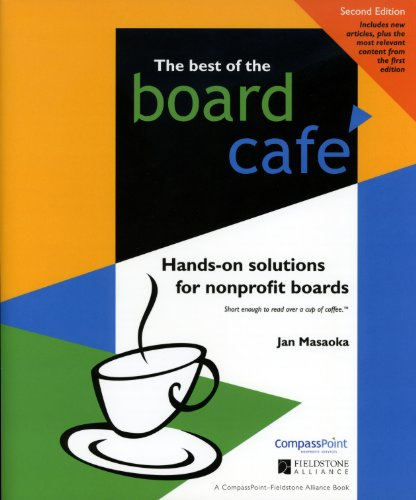Best of the Board Caf� Hands-On Solutions for Nonprofit Boards 2nd 2009 edition cover