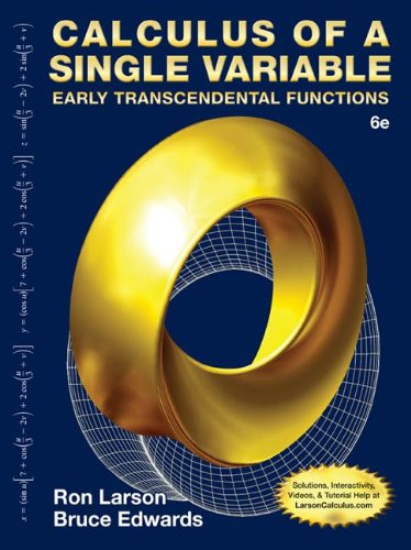 Calculus of a Single Variable: Early Transcendental Functions  2014 edition cover