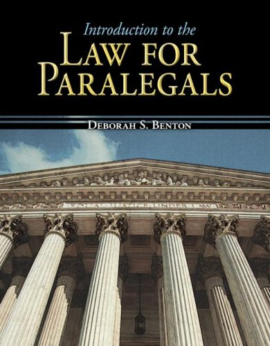 Introduction to the Law for Paralegals   2008 edition cover