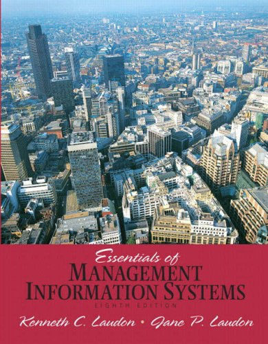 Essentials of Management Information Systems  8th 2009 edition cover