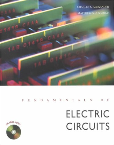 Fundamentals of Electrical Circuits 1st 2000 edition cover