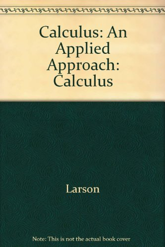 Calculus An Applied Approach 6th 2003 9780618226795 Front Cover