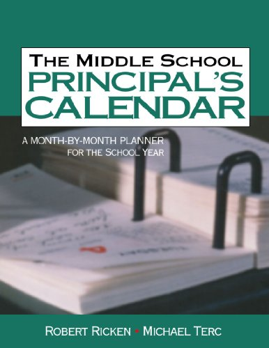 Middle School Principal's Calendar A Month-by-Month Planner for the School Year  2004 edition cover