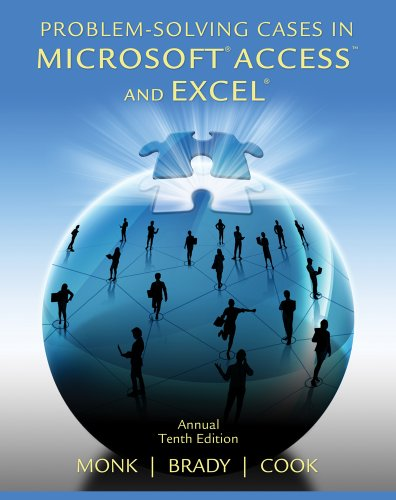 Problem Solving Cases in Microsoft Access and Excel  10th 2013 edition cover