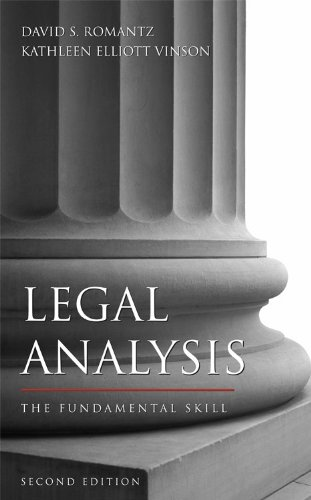 Legal Analysis The Fundamental Skill 2nd 2009 9781594602795 Front Cover