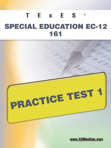 TExES Special Education EC-12 161 Practice Test 1   2011 edition cover