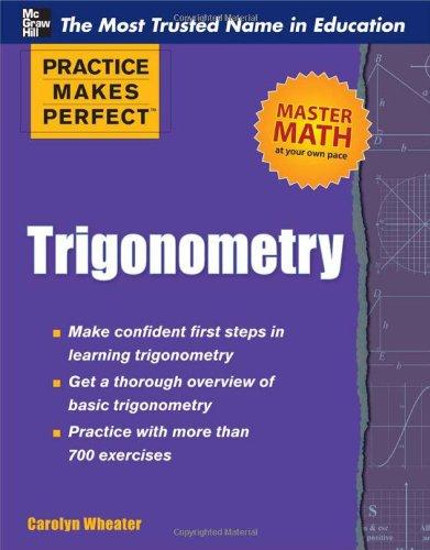 Practice Makes Perfect Trigonometry   2012 edition cover