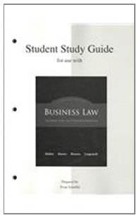 Business Law The Ethical, Global, and E-Commerce Environment 14th 2010 (Student Manual, Study Guide, etc.) edition cover