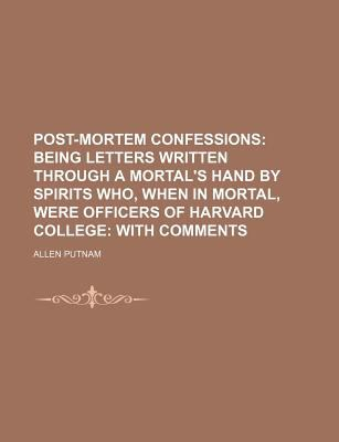 Post-Mortem Confessions  N/A edition cover