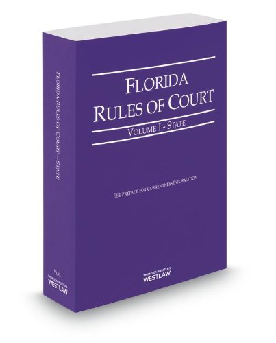 FLORIDA RULES OF COURT,STATE-R N/A 9780314653796 Front Cover