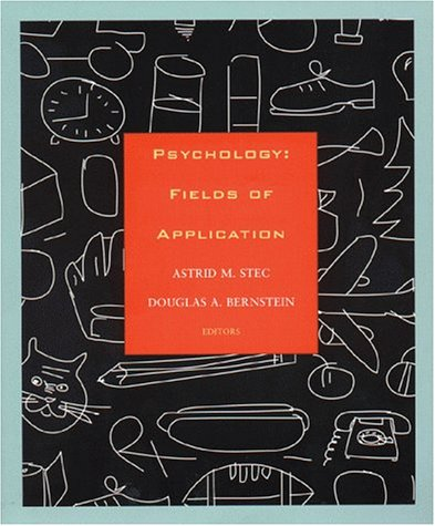 Psychology Fields of Application  1999 edition cover