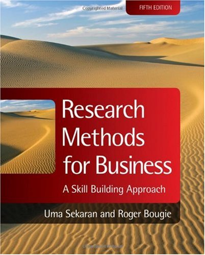 Research Methods for Business A Skill Building Approach 5th 2010 edition cover