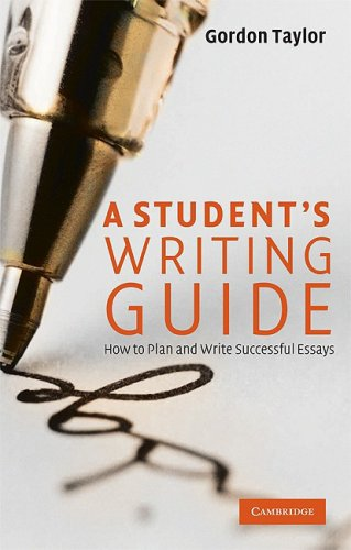 Student's Writing Guide How to Plan and Write Successful Essays  2009 edition cover