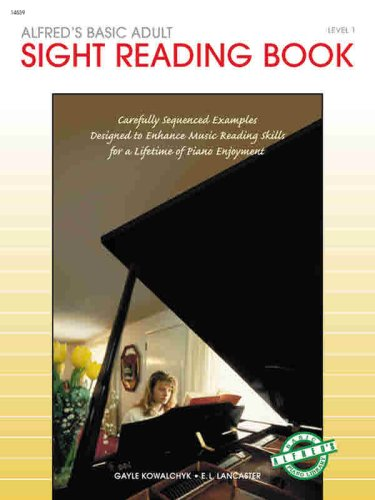 Alfred's Basic Adult Piano Course, Sight Reading Book 1  N/A edition cover