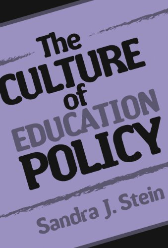 Culture of Education Policy   2004 9780807744796 Front Cover
