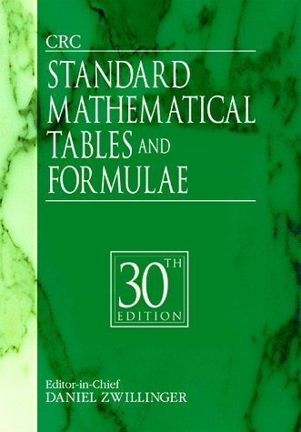 CRC Standard Mathematical Tables and Formulae  30th 1996 (Revised) 9780849324796 Front Cover