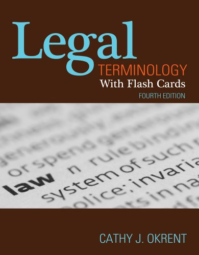 Legal Terminology with Flashcards  4th 2012 edition cover