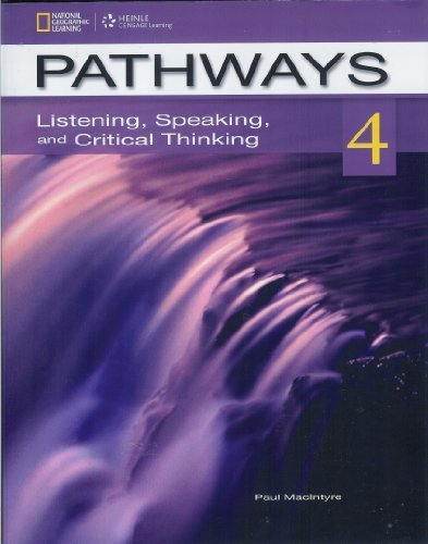 Pathways 4 Listening, Speaking, and Critical Thinking  2013 edition cover