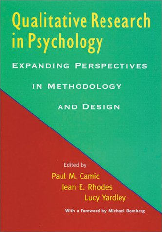 Qualitative Research in Psychology Expanding Perspectives in Methodology and Design  2003 edition cover