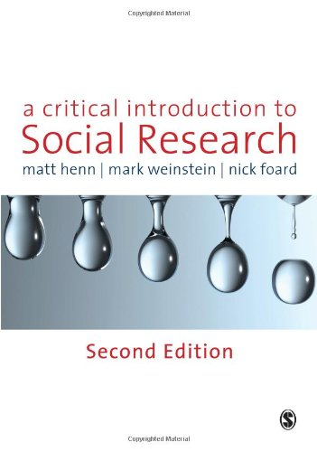 Critical Introduction to Social Research  2nd 2010 edition cover