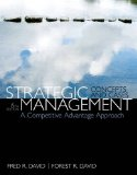Strategic Management A Competitive Advantage Approach, Concepts and Cases 15th 2015 9780133444797 Front Cover