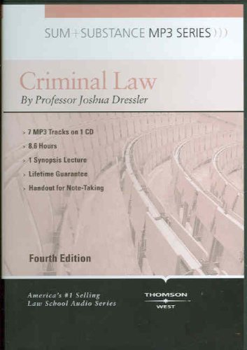 Criminal Law 4ED + Summary Supplement:  2007 edition cover