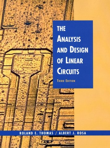 Analysis and Design of Linear Circuits  3rd 2001 9780471386797 Front Cover