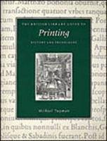 British Library Guide to Printing History and Techniques  1999 edition cover