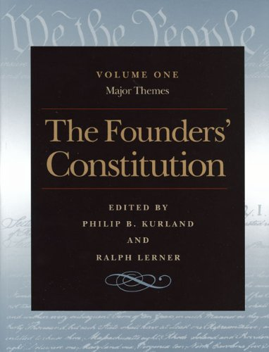 Founders' Constitution   2000 edition cover