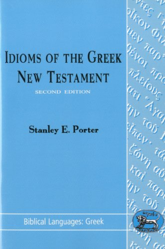 Idioms of the Greek New Testament  2nd 1992 edition cover