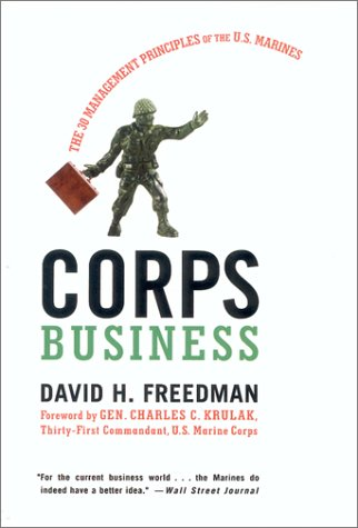 Corps Business The 30 Management Principles of the U. S. Marines  2001 edition cover