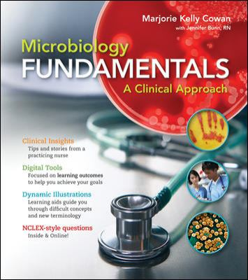 Microbiology Fundamentals A Clinical Approach  2013 edition cover
