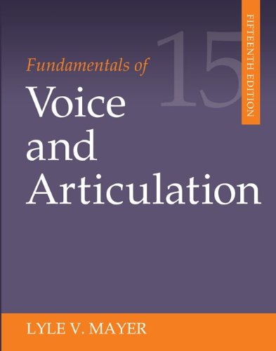 Fundamentals of Voice and Articulation  15th 2013 edition cover